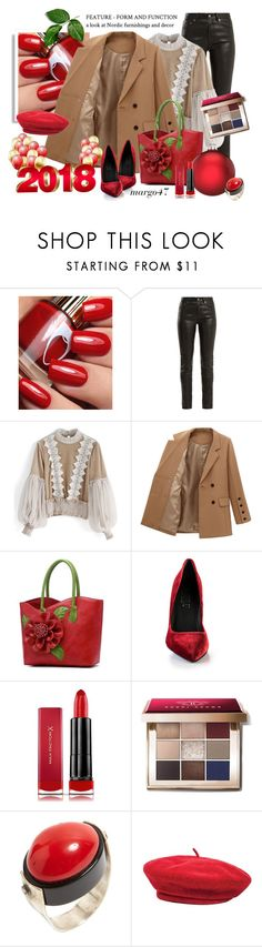 """czwartek"" by margo47 ❤ liked on Polyvore featuring Yves Saint Laurent, Chicwish, Loriblu, Max Factor, Bobbi Brown Cosmetics and Brixton"