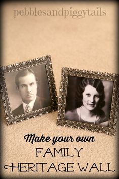 Make a family heritage wall. Easy way to share your family history.