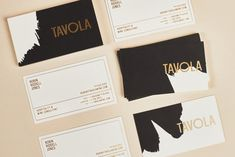 Tavola by Peck & Co. #branding #businesscards