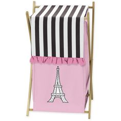 Sweet Jojo Designs Paris Laundry Hamper (€36) ❤ liked on Polyvore featuring home, home improvement and storage & organization