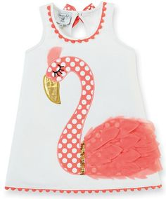 FLAMINGO DRESS by mudpie - Okay, it's not made by Lilly, but close enough! :)