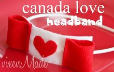 Today is Day 4 of the week of Canada Day crafts. One more day left! I decided to spread the Canadian love to my kids and made my daughter a Canada Day headband. I Am Canadian, Canadian Girls, O Canada, Canada Travel, Holiday Crafts, Holiday Fun, Canada Day Crafts, Rosette Headband, Canada Holiday
