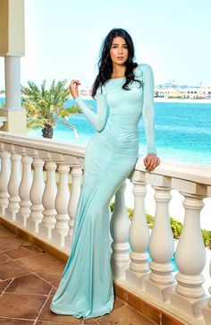 Aqua Evening Gown, Night Gown. ♡ SL