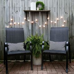 25' patio string with 25ct. g40 clear globe lights | gardens ... - Tiny Patio Ideas