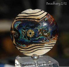 Murrinin lampwork glass bead