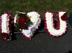 Funeral Letters by Lulu's Flowers - Birmingham Funeral Arrangements, Flower Arrangements, Funeral Tributes, Flower Letters, Sympathy Flowers, Flower Spray, Funeral Flowers, Art Floral, Floral Designs