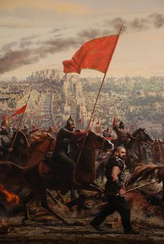 İstanbul'un fethinini yılı – the year of the conquest of Istanbul Conquest of Istanbul 559 year – 559 Historical Art, Historical Pictures, Istanbul, Fall Of Constantinople, Warrior Paint, Vikings, Warriors Wallpaper, Turkish Army, Islamic Paintings