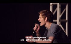privileged and lucky and unhappy - bo burnham Make Happy