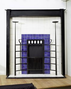 Fireplace  -            Place of origin:Glasgow, Scotland     Date:ca. 1904 (made)    Artist/Maker: Mackintosh, Charles Rennie, born 1868 - died 1928      Materials and Techniques: Iron, with ceramic tile surround