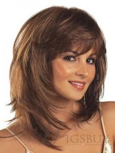 The Athena Hairstyle Exquisite Medium Wig about 14 Inches: wigsbuy.com