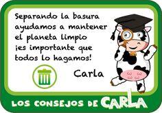 Carla nos anima a poner nuestro granito de arena por un planeta limpio.