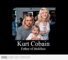Kurt Cobain: Father of duckface