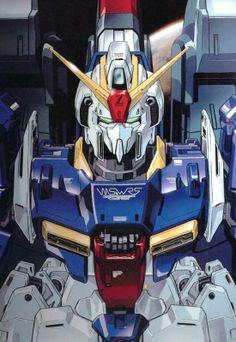 The Zeta Gundam (aka Zeta, Ζ Gundam, ζ Gundam) is the titular mobile suit of Mobile Suit Zeta Gundam. Though the unit itself had many pilots throughout Zeta Gundam and Mobile Suit Gundam ZZ, it was most famously piloted by its designer, Kamille Bidan. Gundam Head, Gundam Wing, Gundam Art, Transformers, Gundam Wallpapers, Phone Wallpapers, Zeta Gundam, Gundam Mobile Suit, Isaac Asimov