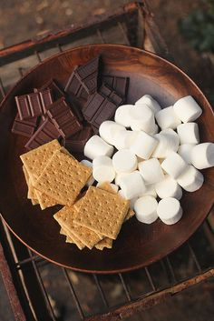 Campfire weather, fall = smore time!