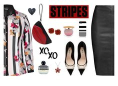 """""""Striped shirt"""" by molly2222 ❤ liked on Polyvore featuring Jitrois, Miu Miu, City Chic, Marc Jacobs, Isaac Mizrahi, Amanda Rose Collection, xO Design and stripes"""