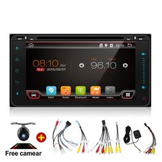 """7"""" 2Din 4 Core Android 4.4 Car Tap PC Tablet  2 Din Universal  For Toyota 200*100 GPS Navigation BT Radio Stereo Audio Player"""