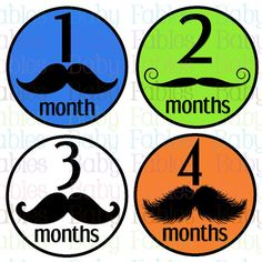 NEW Monthly Baby Onesie Stickers  Mr Mustache by babyfables, $10.00