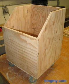 How to build a wood waste bin                                                                                                                                                                                 More