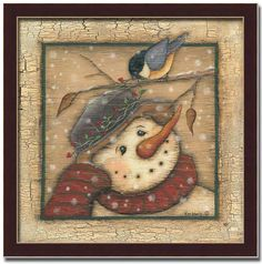 primitive snowman paintings | SB-KL1185-R-12X12.jpg