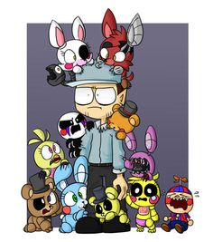 which is your favorite? Mine are Withered Bonnie & Golden Freddy.<<<Foxy and The Marrionett