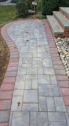 """Contrast your Cambridge Pavingstone colors to add """"pop"""" to your entryway!"""