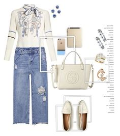 """Work day #peterpiloto #guccibag #j.crew"" by mbarbosa ❤ liked on Polyvore featuring Peter Pilotto, Toast, Gucci, Kate Spade, Marc Jacobs, Blue Nile, Allurez, Sara Weinstock, Casetify and J.Crew"