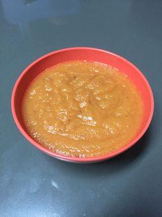 Papilla de papaya, manzana y pera A partir de los 6 meses Ingredientes - 60 gramos de papaya pelada y cortada - Una manzana grande cocida - Una pera cocida Preparación Cocinas la manzana y la pera sin cáscara y cortadas por 15 minutos. En la licuadora se ponen los ingredientes con la papaya cortada en trozos y se licúa hasta tener una crema consistente.