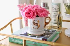 gingersnaps: Spring Bar Cart Styling