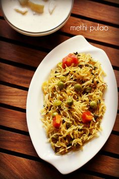methi pulao recipe with step by step photos. healthy pulao made with fenugreek leaves and mix vegetables. methi pulao is a one pot nutritious meal.