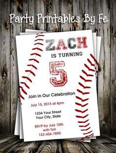 Birthday Party Invitation - Baseball 1