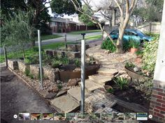 Cute garden design with gabion walls