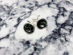 Black Diamond Swarovski Cufflinks