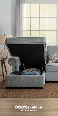 Your sofa can be so much more than just a comfy seat. I work closely with my manufactures to load all my furniture with features, like hidden storage and built in pull out bed. And I never charge more for them. That's what it means to get Bob's Discount. My Furniture, Living Room Furniture, Pull Out Bed Couch, Multifunctional Furniture, Hidden Storage, At Home Store, Love Seat, Sofa