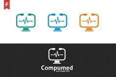 Computer Medical Logo by ft.studio on @creativemarket