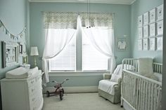 soft color, gender neutral, vintage touches. #nurseries #houseofturquoise