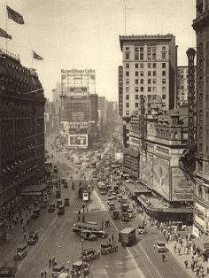 New York City. Broadway From Times Square, c. early 1920s