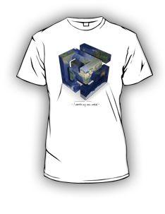 t-shirt artystyczny, dla osobób posiadających swój własny świat ;)  Koszulka artystyczna dostępna w wersji damskiej jak i męskiej