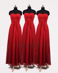 Long Burgundy Bridesmaid Dress Wine Red Bridesmaid by DressHome ...