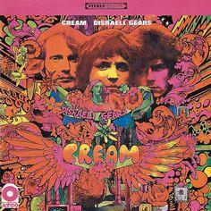 Cream; <i>Disraeli Gears</i>; 1967; Reaction; art -- Martin Sharp; photo -- Robert Whitaker, Jim Marshall (additional photography)
