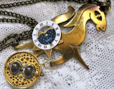 My Little Pony Friendship is Magic Steampunk Doctor Hooves Handmade Ponies Necklace Pendant. SOLD via Etsy.