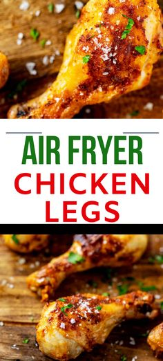 Try these Air Fryer Fried Chicken Legs for a healthier alternative to fried chicken.  They are crispy, crunchy and oh so delicious, without the mess of frying.  This is a delicious easy meal that both kids and adults can agree on. Fried Chicken Legs, Air Fryer Fried Chicken, Baked Chicken Recipes, Crockpot Recipes, Air Fryer Healthy, Breakfast Options, Easy Delicious Recipes, Game Day Food, Air Fryer Recipes