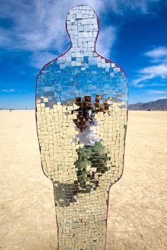 Burning Man, Black Rock Desert of Nevada by http://daanverhoeven.blogspot.com.  Mirror in the landscape is always fun.