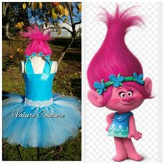 Trolls Inspired Poppy Tutu Dress by ValureCouture on Etsy Twin Birthday Parties, Trolls Birthday Party, Troll Party, Los Trolls, Troll Costume, Happy Halloweenie, How To Make Tutu, Cartoon Photo, Tutu Outfits