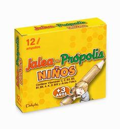 AMPOLLAS JALEA + PRÓPOLIS NIÑOS La Vitamina D es necesaria para el crecimiento y desarrollo normales de los huesos en los niños. Caja de 12 Ampollas.