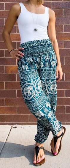 Keeping it casual in our Elephant harem pants