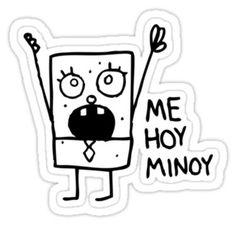 doodlebob me hoy minoy. Sticker
