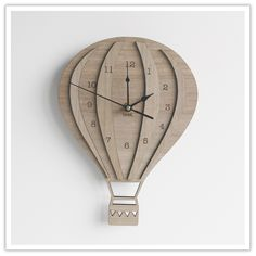 Vintage Skies | Hot Air Balloon laser cut wooden clock