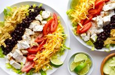 Fire up the flames for the best fish taco salad recipe starring flaky white fish and a healthy homemade avocado dressing.