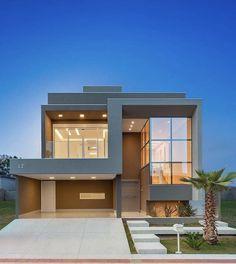 Best Duplex House Elevation Design Ideas India, Modern Style, New Designs Modern Exterior House Designs, Modern House Facades, Modern Villa Design, Modern Architecture House, Modern House Plans, Exterior Design, Amazing Architecture, Contemporary Design, Architecture Design