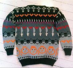 Karpe Diem genser by Cecilie Kaurin Knit Stranded, Cool Sweaters, Carpe Diem, Crochet Yarn, Christmas Sweaters, Fancy, Wool, Knitting, Pattern